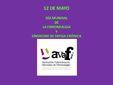 """""""AVAFI celebra la Jornada """"12 de mayo, día mundial de la fibromialgia y síndrome de fatiga crónica"""""""""""