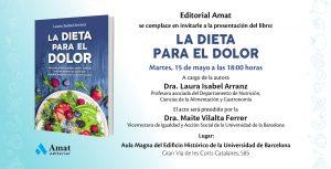 """""""Presentación del libro """"La dieta para el dolor"""" de la Dra. Laura Isabel Arranz"""""""