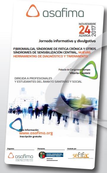 """SEFIFAC participa en las Jornadas divulgativas de ASAFIMA: """"Fibromialgia, Síndrome de Fatiga Crónica y Otros Síndromes de Sensibilización Central""""."""