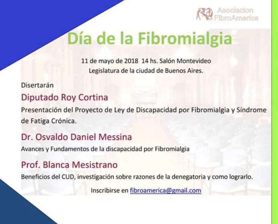 Día de LA FIBROMIALGIA. Asociación FIBROAMERICA