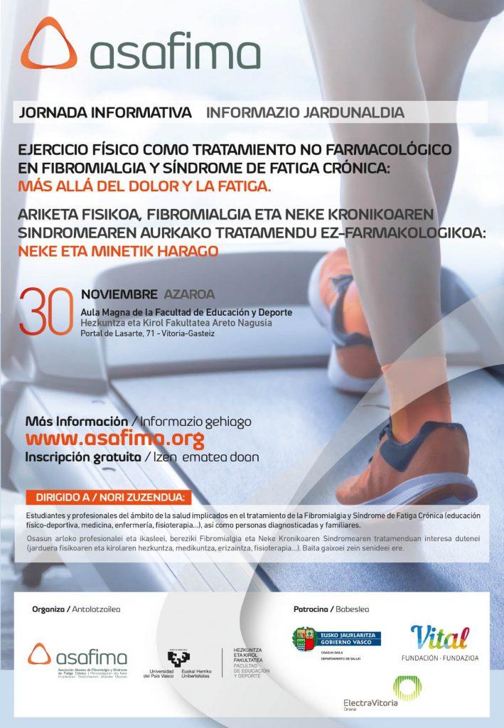 Jornadas informativas sobre Ejercicio Físico en Fibromialgia y Síndrome de Fatiga Crónica.